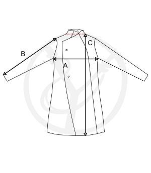 Płaszcz sukienny męski