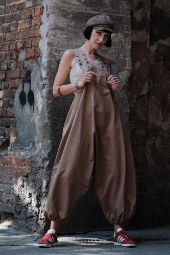Spodnie damskie Hultaje piaskowe